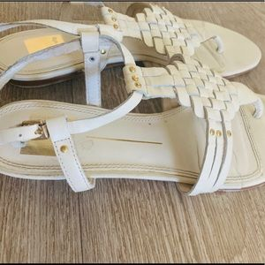 Dolce Vita white leather sandals - new
